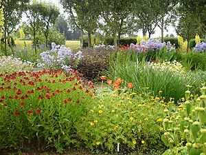 English: The flower garden, Loseley Park