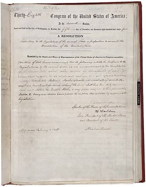 13th Amendment of the nited States Constitution.