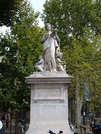 The statue of arts and sciences on the Cours M...
