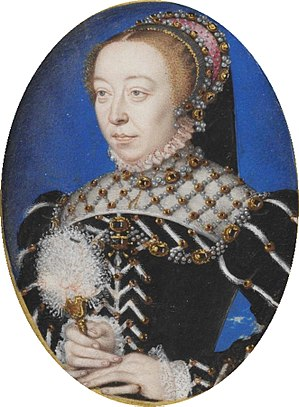 "Miniature of Catherine de' Medici, ""a rar..."