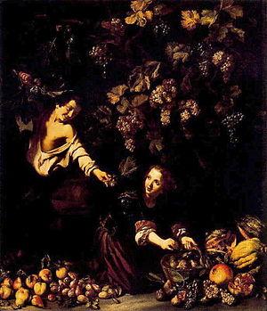 Cerquozzi-niños cogiendo fruta