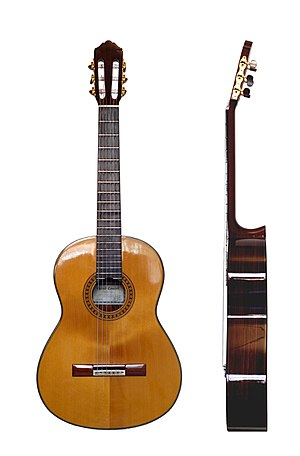 Classical Guitar, front and side view. This im...