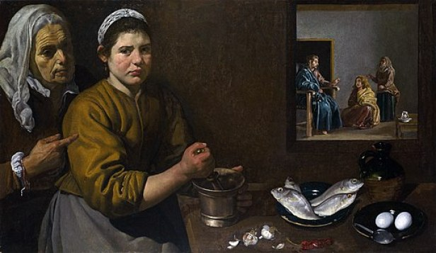 """""""Christ in the House of Martha and Mary"""" by Diego Velázquez"""