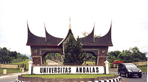 Gate of the Andalas University in Indonesia