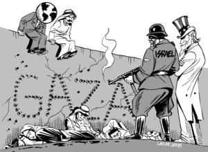 """""""Gaza Massacre!"""" by Carlos Latuff. E..."""