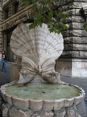 English: Fontana delle Api by Giovanni Lorenzo...