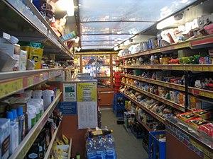 Finnish grocery store on wheels inside Suomala...
