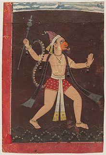 Hanuman painted by Pahari Painter.jpg