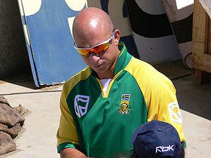 South African cricketer Herschelle Gibbs.