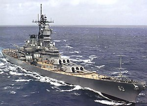 USS Missouri in her 1980s configuration