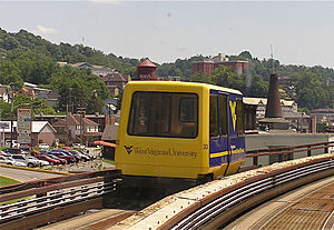 English: Morgantown Personal Rapid Transit, ne...