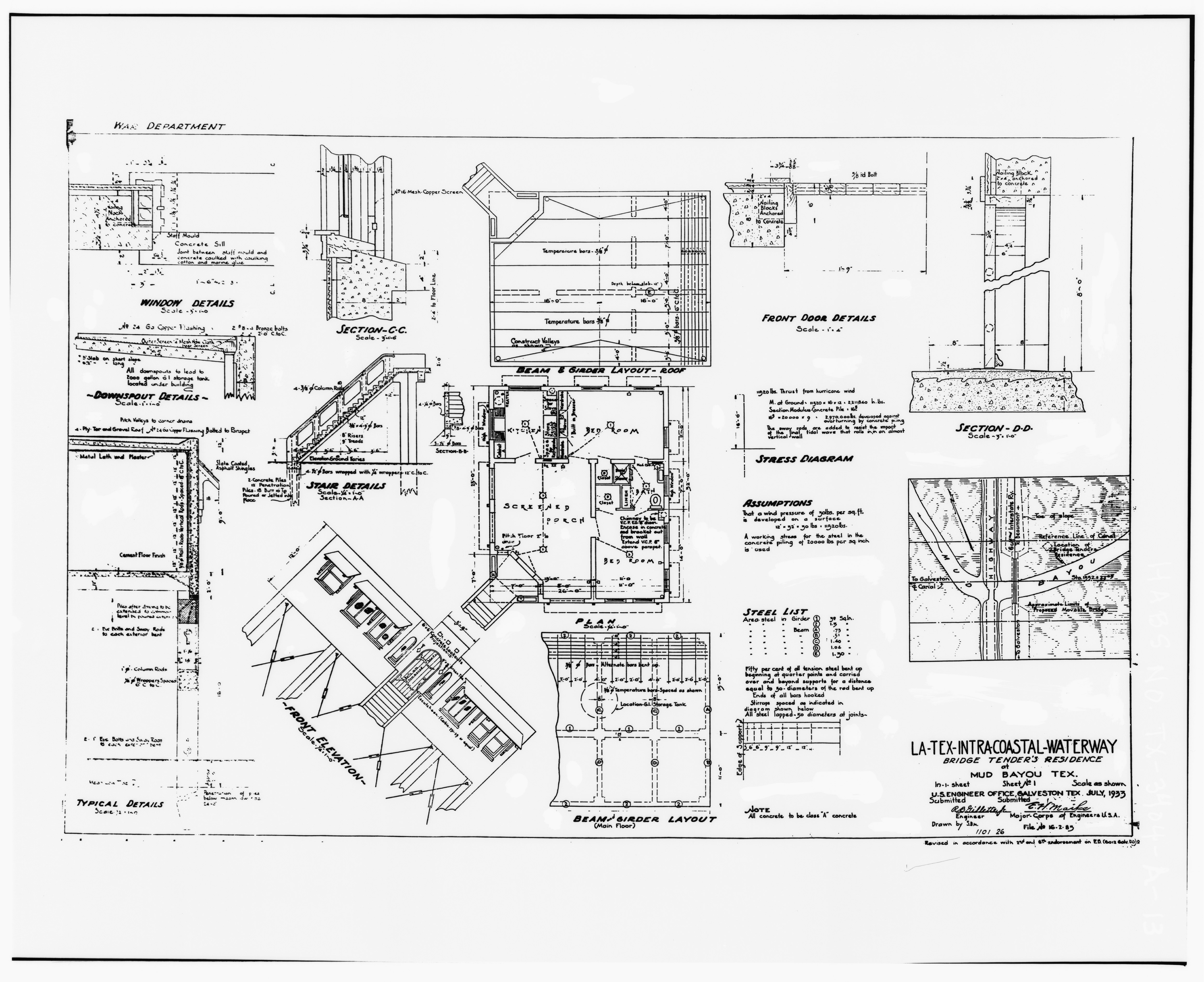 File Photo Of Construction Specification Drawing By