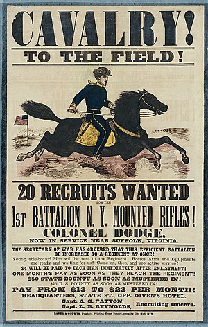 English: Recruiting poster for the New York Ca...