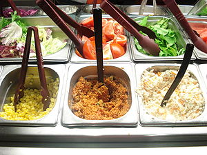 Salad bar from a Pizza Hut restaurant in İstanbul