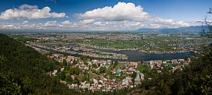 View of Dal Lake and the city of Srinagar from...