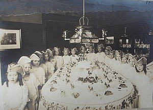 Themed birthday party, ca. 1910-1915, likely i...