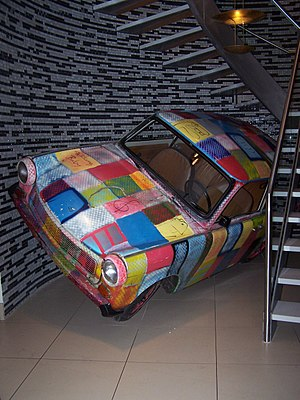 A Trabant automobile from U2's Zoo TV Tour in ...