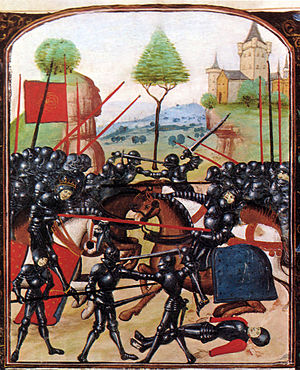 The Battle of Barnet, where Warwick was killed...