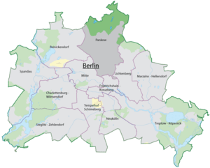 The location of Pankow in Berlin