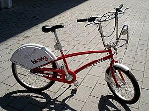 Foto de la bicileta Bicing de Barcelona