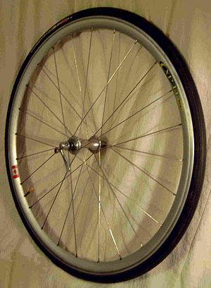 a Mavic CXP 14 700c Road bicycle wheel.