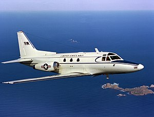 A U.S. Navy North American CT-39E Sabreliner (...