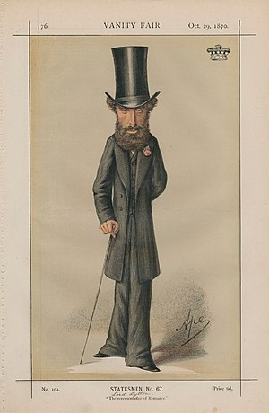 Caricature of Edward Bulwer-Lytton, 1st Baron ...