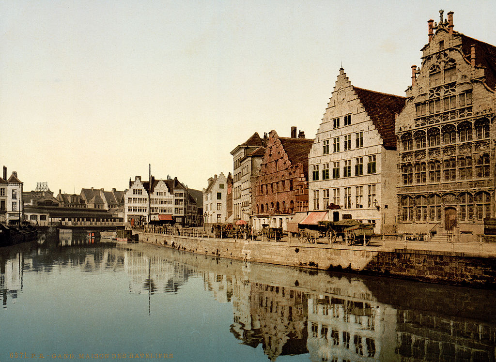 File Graslei Ghent Belgium 1890s Jpg Wikimedia Commons
