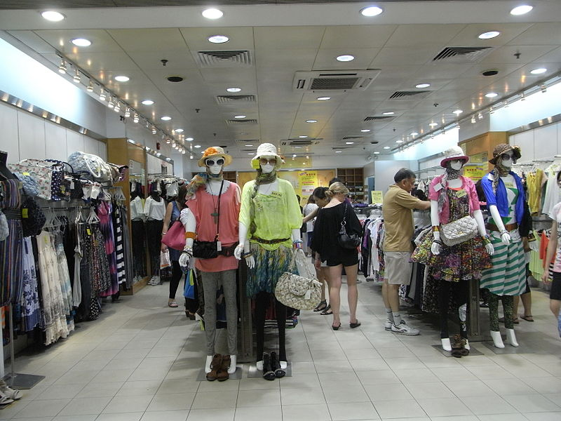 File:HK TST night 嘉連威老道 Granville Road In-Fashion clothing shop interior.JPG