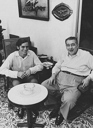 Español: Manuel Pereira y Lezama Lima, en una ...