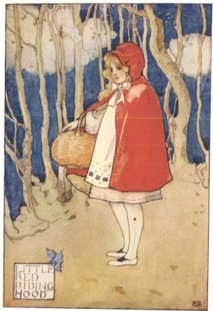 Little Red Riding Hood, illustrated in a 1927 ...