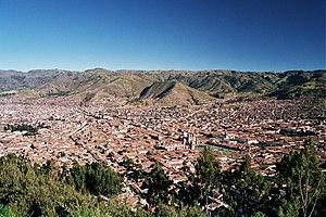 View over Cusco. Artikelvorschläge: Peru-Cusco...