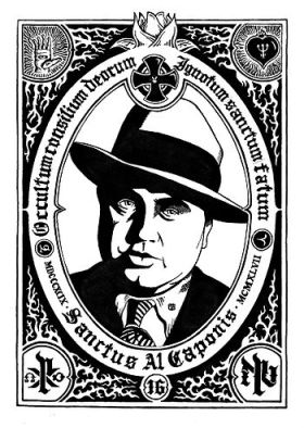 English: Al Capone Portrait Español: Retrato d...