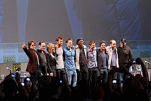 English: Cast of The Avengers at the 2010 San ...