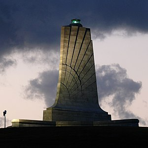 Monument at Wright Brothers National Memorial.