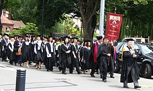 English: Academic procession at the University...