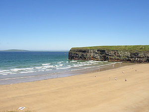 The beach in Ballybunion in Kerry of Ireland.