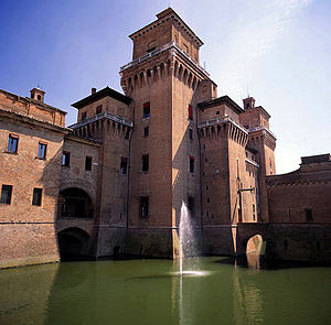 The Este Castle of Ferrara, Italy