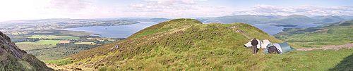 Blick von Conic Hill auf Loch Lomond