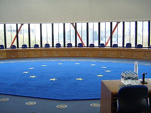 Court room of the ECoHR