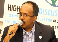 Mohamed Abdullahi Mohamed in April 2014