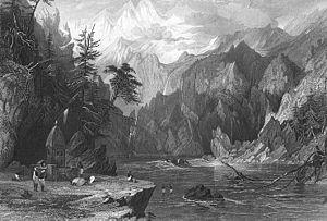 Gangotri, Ganges River, 1850s