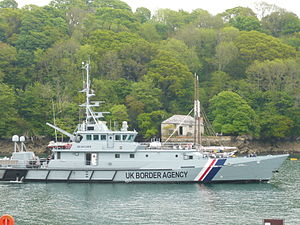 English: HMC Searcher, a cutter operated by th...