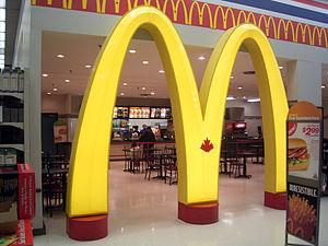 A McDonalds in a Toronto, Ontario, Canada Wal-...