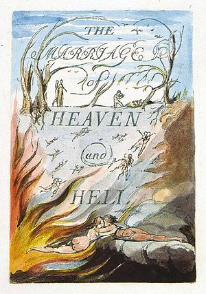 Title page of The Marriage of Heaven and Hell ...