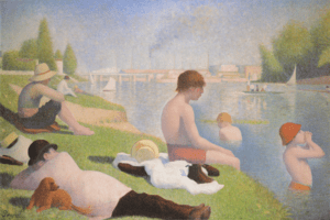English: Bathers at Asnières, Georges Seurat, ...