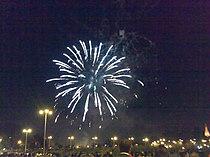 Fuegos artificiales que ponen punto y final a cada semana de Feria de abril.