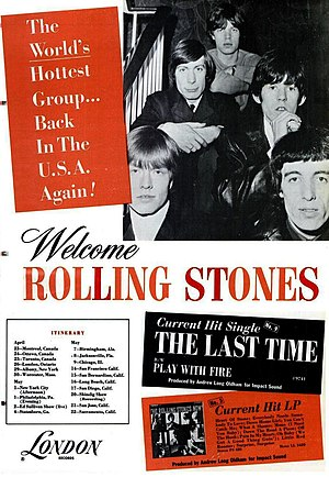 English: Trade ad for 1965 Rolling Stones' Nor...