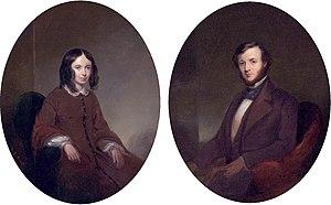 English: Portraits of Elizabeth Barrett Browni...