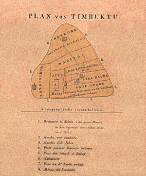 Map of Timbuktu from 1855 taken from http://ww...
